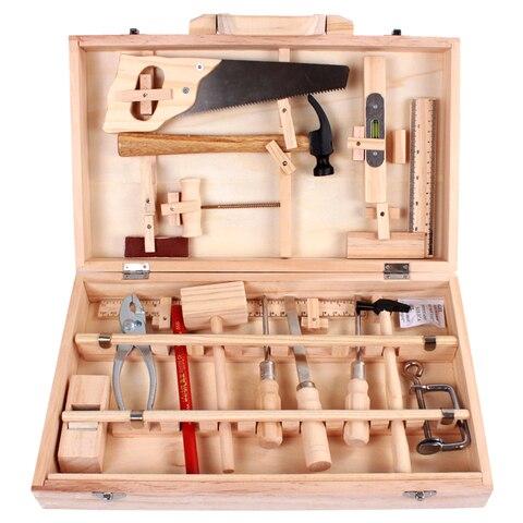 gestao de manutencao da crianca toolbox brinquedo desmontagem multi purpose carpintaria caixa de madeira menino