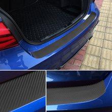 Araba Styling karbon Fiber araba arka tampon gövde çıkartmaları Skoda Octavia için A5 A7 Fabia Superb B6 Passat B8 b6 B7