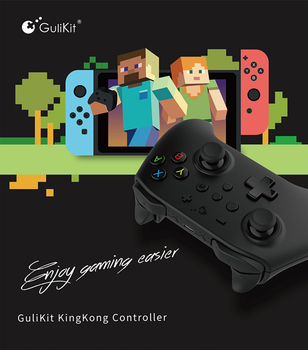 GuliKit NS08 Wireless Bluetooth Gamepad Kingkong Game Controller For Switch PC Android TV Box Raspberry PI 3B 4B Gaming Jaypad 6