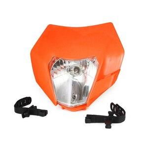 Image 4 - Motorrad Scheinwerfer Scheinwerfer Verkleidung Mit H4 Birne Für KTM EXC SX XC XCW XCF XCFW SXF SMR EXCF 125 150 250 300 350 450 530 ATV