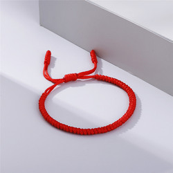 New Red Rope Lucky Weave Bracelet Women Men Hand-knitted Stretch Charm Tibetan Braided Bracelets Friendship Bangles Best Gifts