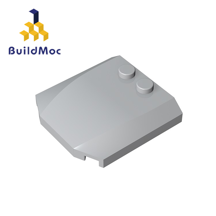 BuildMOC 45677 Wedge 4 X 4 X 2 For Building Blocks Parts DIY LOGO Educational Creative Gift Toys