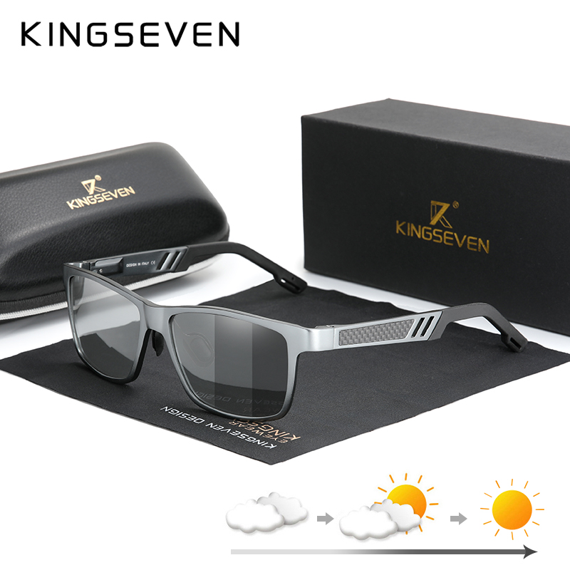 KINGSEVEN Photochromic Sunglasses Men Women Polarized Chameleon Glasses Driving Goggles Anti-glare Sun Glasses zonnebril heren