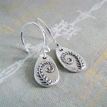 Женское модное серебряное кольцо Цвет папоротник серьги женские