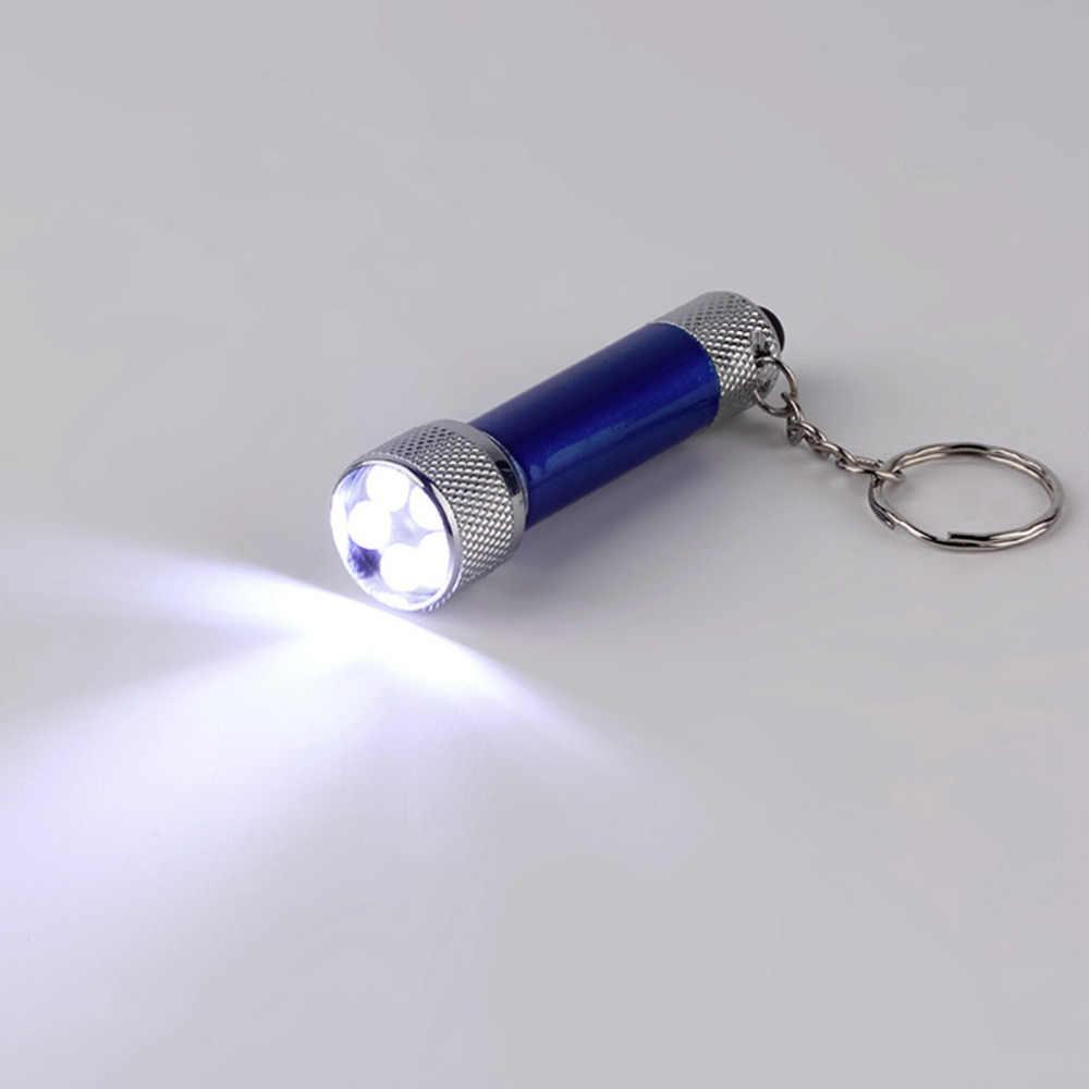 5 LED Mini Lanterna Tocha Chaveiro porta Azul Novo