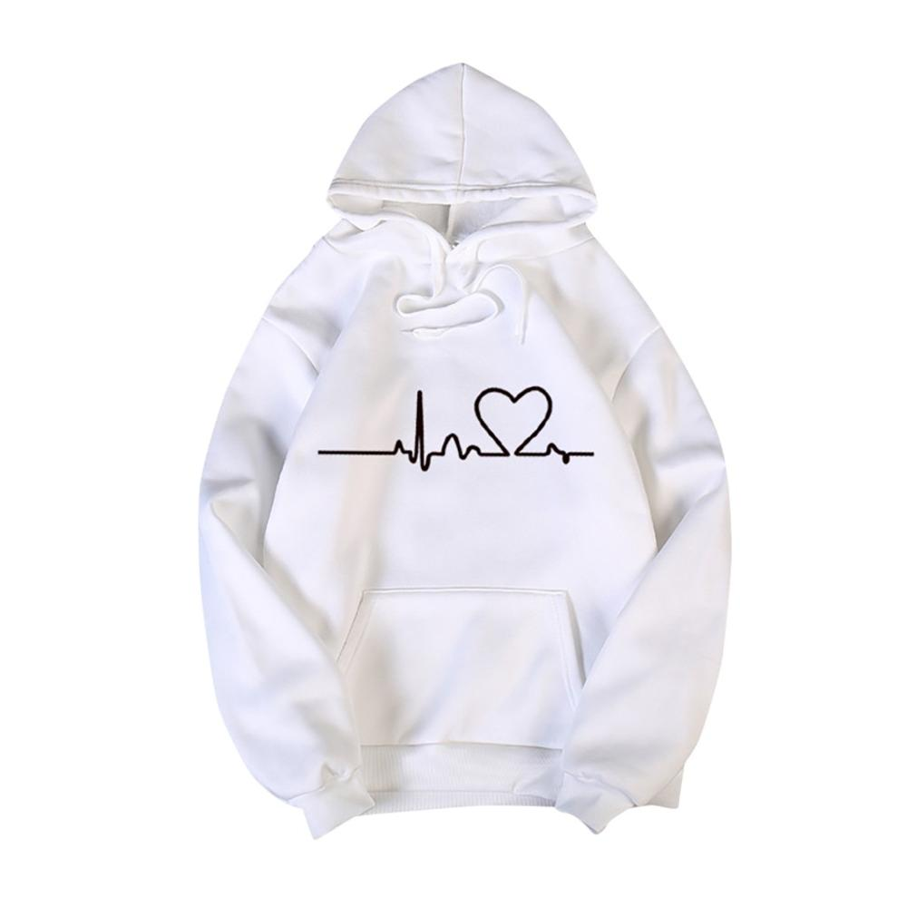 Valentine's Day Hoodies For Couples Autumn Spring Harajuku Heart Print Long Sleeve Hooded Sweatshirt Casual Pullover Tops Women 9