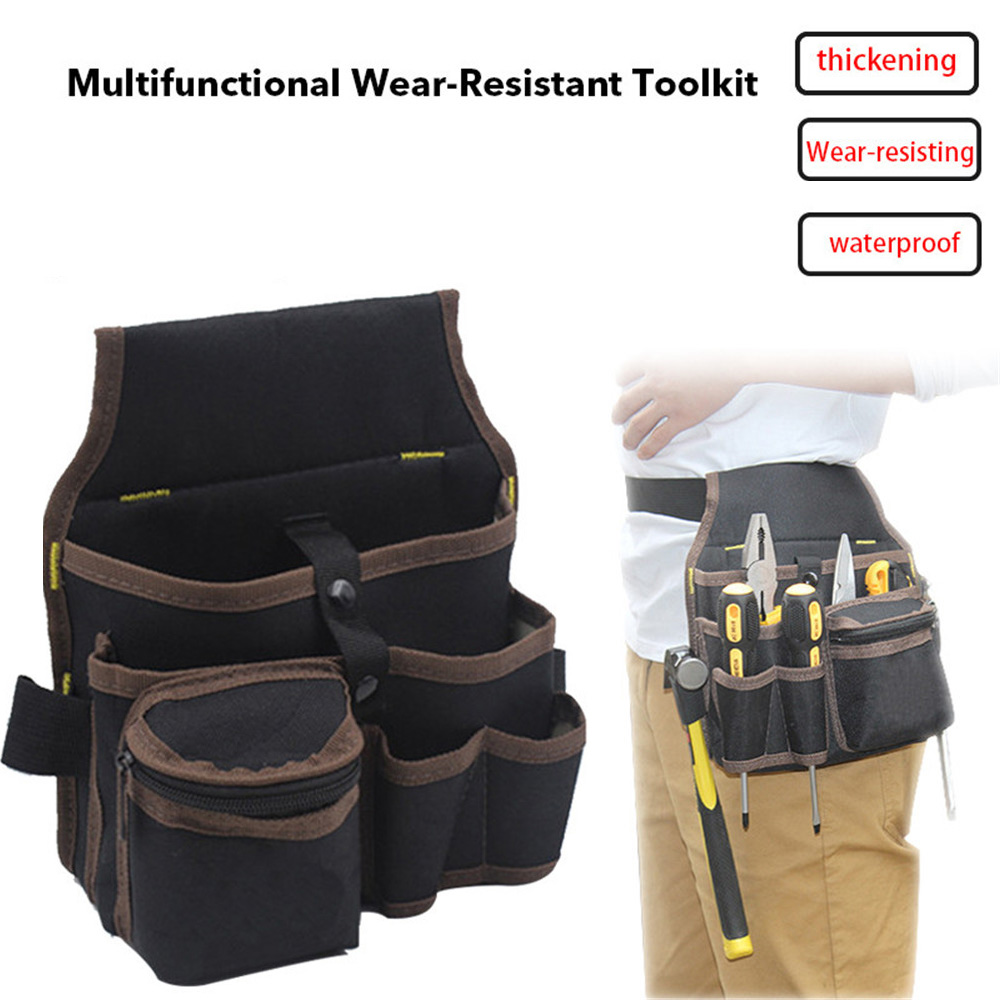 1Pcs Large Capacity Tool Bag Waist Pockets Electrician Tool Bag Oganizer Carrying Pouch Tools Bag Belt Waist Pocket Case