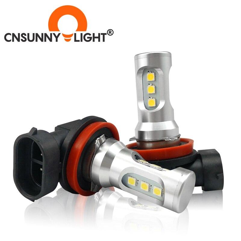 Fits Honda Accord 03-On Jazz H11 COB LED Headlight Bulbs Kit 8000 Lumens Canbus