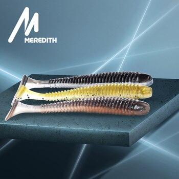 цена MEREDITH 55mm 65mm 75mm Sea fishing Soft Lure Wobblers Silicone Bait Artificial Swimbait Soft Bait Carp Fishing Lure Set Fake онлайн в 2017 году