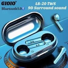 TWS LB-20 Mini Bluetooth Kopfhörer Drahtlose Musik Ohrhörer Wasserdichte 9D Surround Sound Für Iphone Oppo Huawei Xiaomi Headset