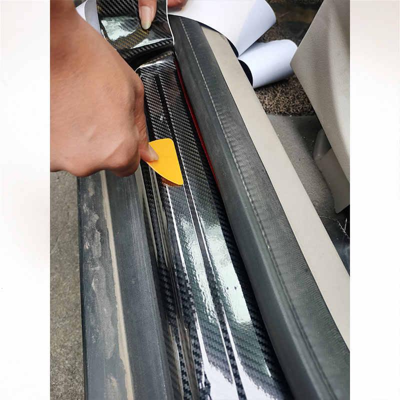 나노 탄소 섬유 자동차 스티커 DIY 붙여 넣기 보호대 스트립 자동 도어 씰 사이드 미러 안티 스크래치 테이프 방수 보호 필름