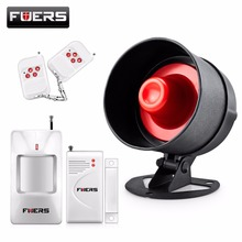 Fuers Alarm System Siren Speaker Loudly Sound Home Alarm System Wireless Detector Security Protection System for House Garage