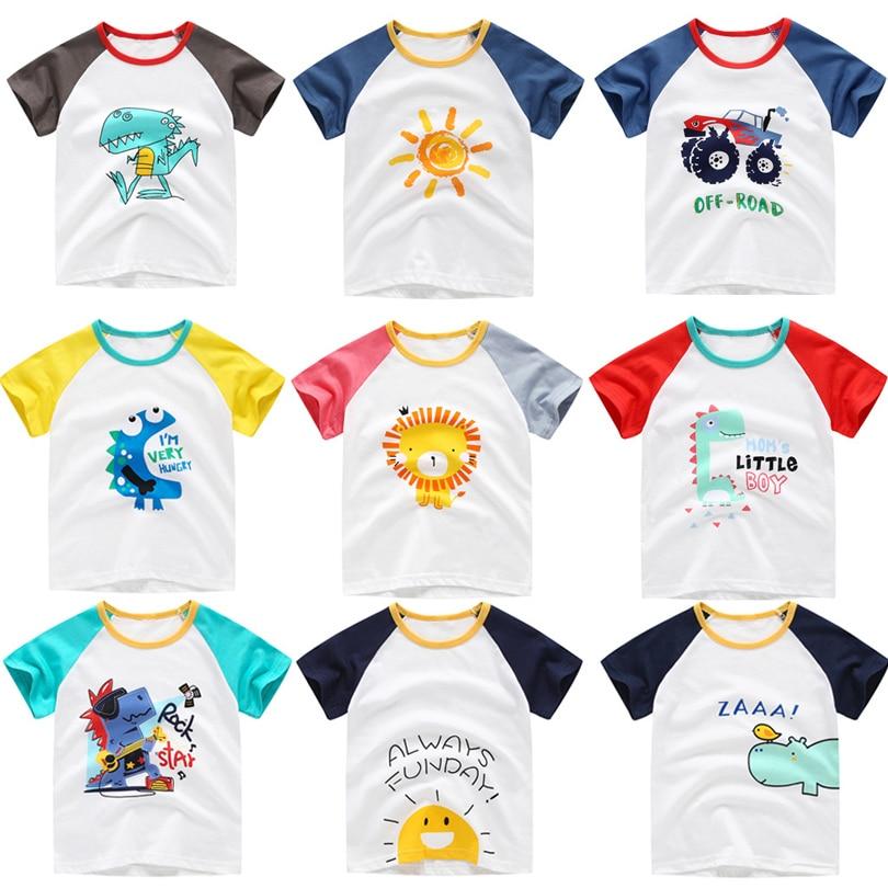 2020 Summer Cartoon Toddler Boys T Shirt Car Print Short Sleeve Baby Girls T-shirts Cotton T-shirt Children Tee Tops Boy Clothes