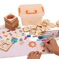 100 шт Детские игрушки для рисования  трафареты для рисования  шаблоны  доска для раскрашивания  Детские креативные дудлы  Развивающие Игрушк...