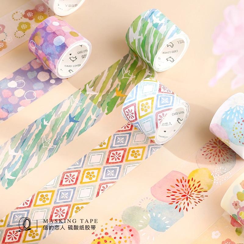 Cute Kawaii Plants Flowers Japanese Washi Tape Diy Scrapbooking Sticker Label Masking Tape School Office Supply