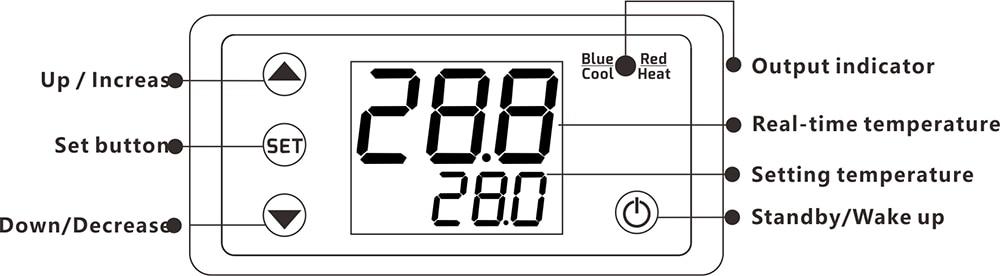 H8aa85152649145d794eb6026ddf2a762S W3230 AC 110V-220V DC12V 24V Digital Thermostat Temperature Controller Regulator Heating Cooling Control Instruments LED Display