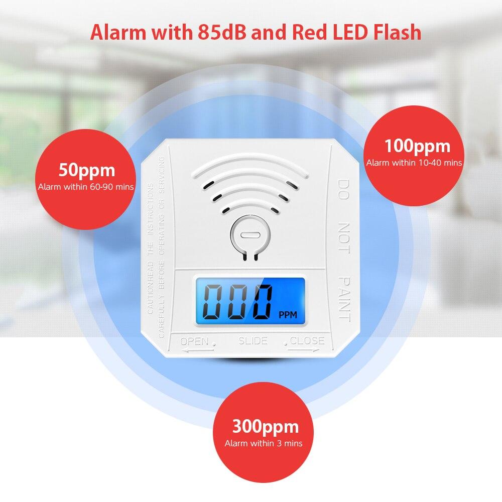 Straightforward Carbon Monoxide Detector Alarm Co Gas Warning Sensor Alarm Monitor Tester Home Security Carbon Monoxide Smart Sensor