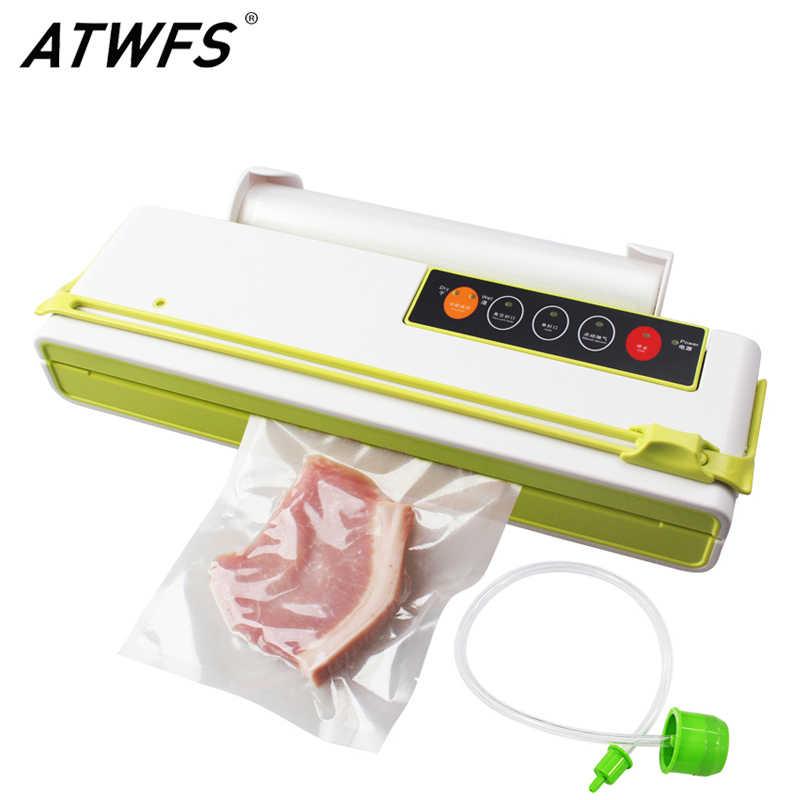 ATWFS Thực Phẩm Hút Chân Không Thực Phẩm Đóng Gói Kín Máy Cắt Tự Động Ô Tô Chuyên Dụng Vacum Túi 10 Chiếc Cho Thức Ăn Tiết Kiệm