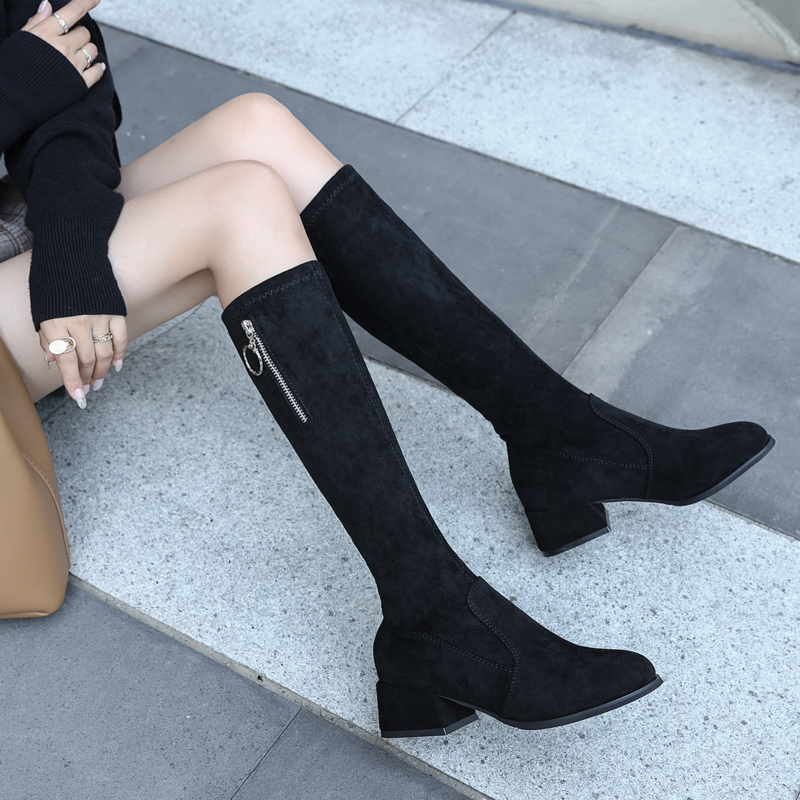 Fashion Over The Knee Boots Women Autumn Winter Women Boots 2019 New Sexy Boots High Heels Boots Ladies Brown Black Boots Women in Over the Knee Boots from Shoes