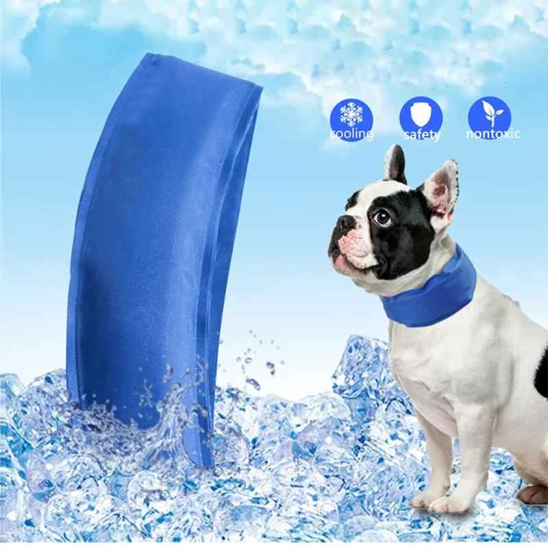 Dog Summer Neck Scarf Cooling Collar Wide Scope of Application Fashionable Polyester Ice Bag Necklace Pet Accessories