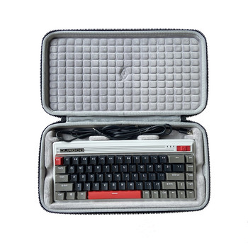 Storage Protection Hard Shell Bag Box Case for DURGOD Fusion 68-key Bluetooth 60% Mechanical Keyboard image