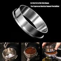 51/53/57.5/58/58.35 мм нержавеющая сталь интеллектуальное кольцо для дозирования пивоварения чаша кофе порошок для эспрессо бариста Воронка портаф...