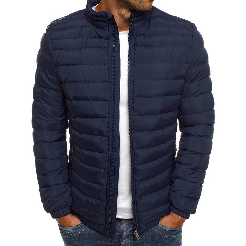 ZOGAA Hot Sale Men Winter Jackets Chest Exquisite Pocket Simple Hem Practical Waterproof Zipper High Quality Parka