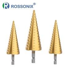 Metal Drills HSS Straight Groove Step Drill Bit Cone Titanium Coated Wood Cutter Woodworking Tools 3-12mm 4-12mm 4-20mm 4-32mm