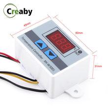 Xh w3001 w3002 dc 12v 24v ac 110-220v led digital controlador de temperatura termostato aquário incubadora refrigeração aquecimento controle