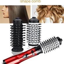 Вращающийся электрический выпрямитель для волос 3 в 1, щетка для завивки волос, фен, щетка, Расческа с горячим воздухом, стайлер для волос с от...