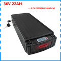 36v 22ah Lithium batterie 1000W 36V hinten rack ebike batterie 30A BMS mit schwanz licht 42V 2A Ladegerät freies verschiffen-in Elektrofahrrad Akku aus Sport und Unterhaltung bei