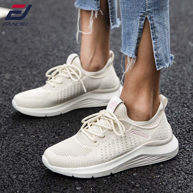 FANDEI 2020 Running Shoes Women Sneakers Women Sport Shoes Woman Breathable Lace Up Deportivas Mujer Walking Jogging Shoes
