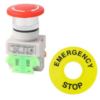 1NO 1NC DPST zatrzymanie awaryjne przycisk zatrzaskowy przełącznik 10A grzyb Cap S55 tanie i dobre opinie Other Emergency Z tworzywa sztucznego None Przełącznik Wciskany