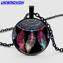 Dreamcatcher Photo Tibet Silver Bullion Fashion Crystal Chain Pendant Necklace