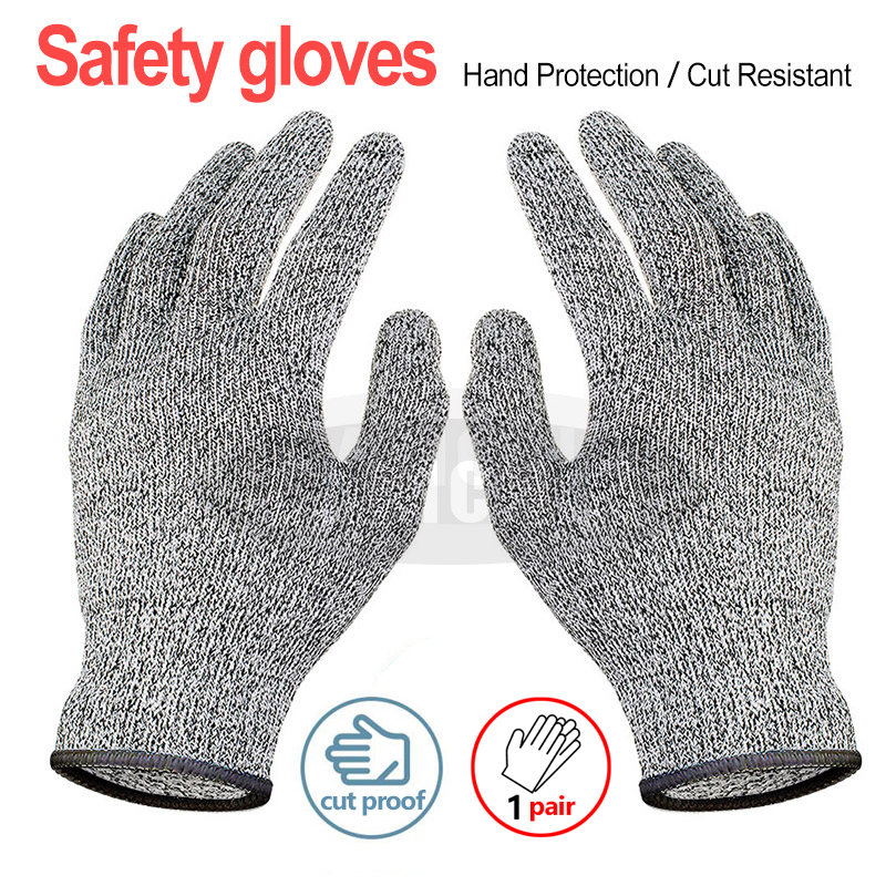 Breathable Anti-cut Work Gloves Cut Proof Kitchen Butcher Safety Gloves Stab Resistant  Flame Proof Metal Mesh Hand Gloves