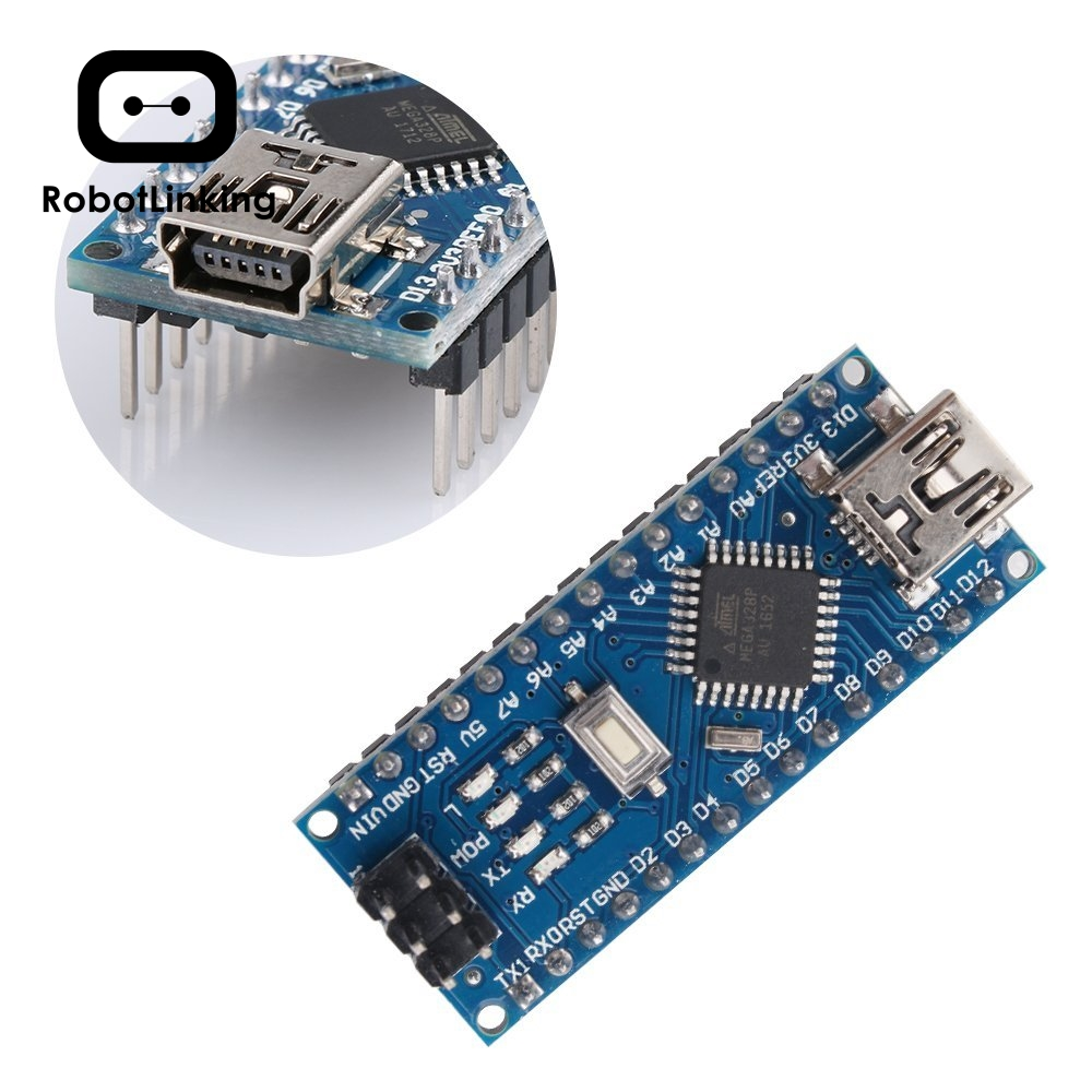Image 3 - for Arduino Nano V3.0, Nano board ATmega328P 5V 16M Micro controller board with USB cable (Nano x 5 + cable)-in Integrated Circuits from Electronic Components & Supplies