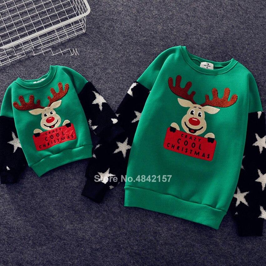Новинка года; Рождественские свитера для всей семьи; 19 цветов; рождественские худи; пижамы; теплый свитер с вышивкой Санта-Клауса и лося; подарок для взрослых и детей - Цвет: Color2