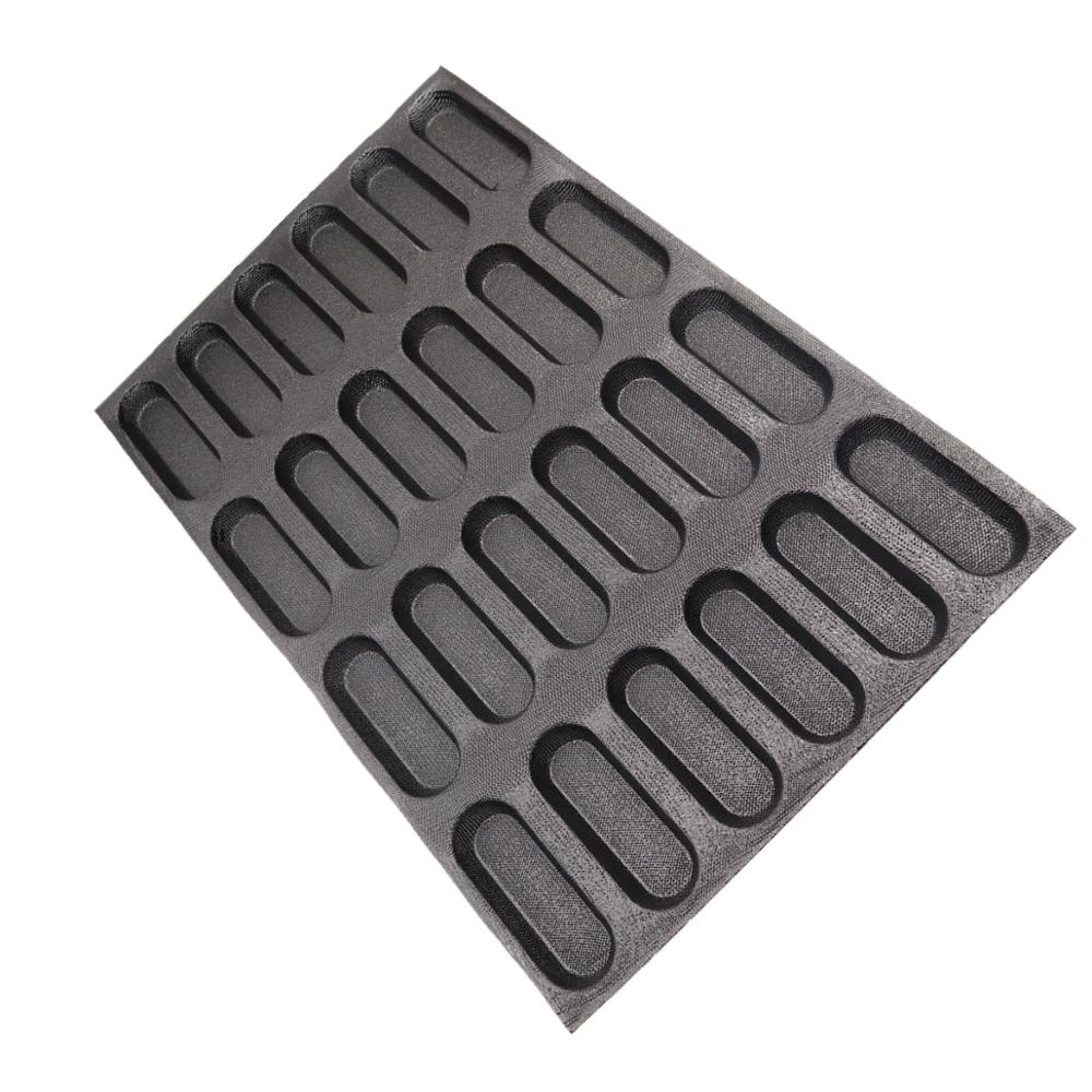 Bluedrop silicone bread form baby sandwich baking molds Eclair baking sheet liners 5 inch 24 loaves hot dog bakery mesh sheet