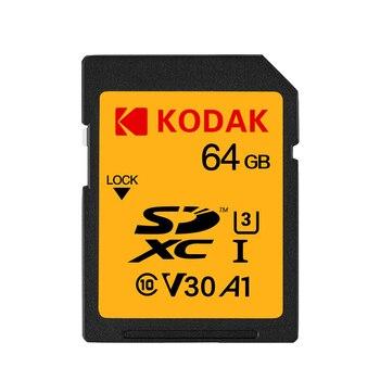 KODAK 32GB/ 64GB /128GB SD Memory Card U1 U3 Class 10 High Speed Memory Card SDHC Flash Card For Digital SLR/HD Camera