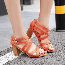 Women Shoes Sandals 2018 High Heels Cross Strap Gla