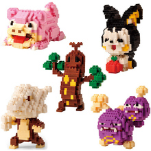 Building Blocks Pocket Monsters Emolga Marowak Weezing Sudowoodo Cartoon Figures LNO Mini Games Toys for Children Mirco Block lno 217pcs charizard pokemon building block