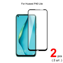2pcs For Huawei P40 Lite Full Cover Premium 0.26mm Tempered Glass Protective Glass Screen Protector For Huawei P40 Lite