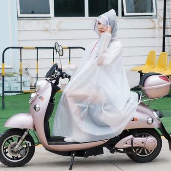 Bike Raincoat Scooter Jacket Transparent Adult Waterproof Raincoats For Women Kurtka Przeciwdeszczowa Raincoat Hooded OO50YY