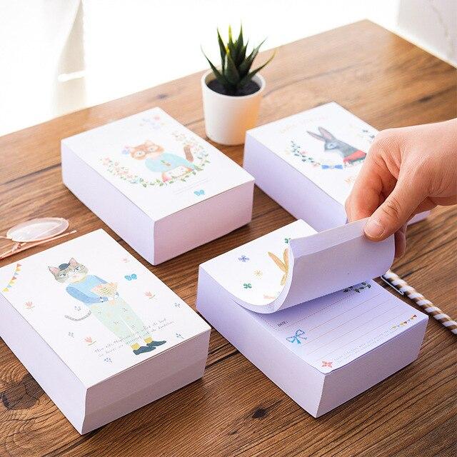 Kawaii 375 ملاءات مذكرة سادة يمكن المسيل للدموع رسالة ورقة الملاحظات أرنب القط يومي أسبوعي جدول مخطط دفتر المدرسة القرطاسية