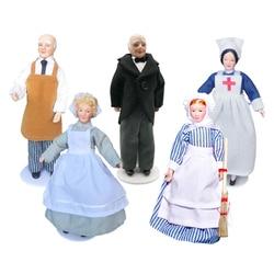 1/12 dollhouse miniatura porcelana boneca pessoas modelo bonito menino menina decoração