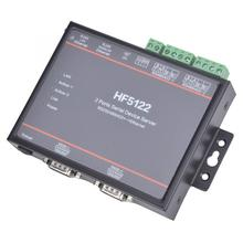 Serial Port HF-5122 Dual Serial Port to Ethernet RS232 / RS485 / RS422 Serial Server Converter 5 - 36VDC industrial modbus 2ports serial server rs232 rs485 rs422 to wifi ethernet device converter connector unit