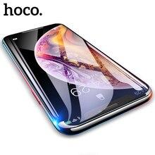 Hoco capa completa de vidro temperado para iphone 11 pro max xr x xs max protetor de tela 3d vidro protetor de proteção para iphone 7 8 plus