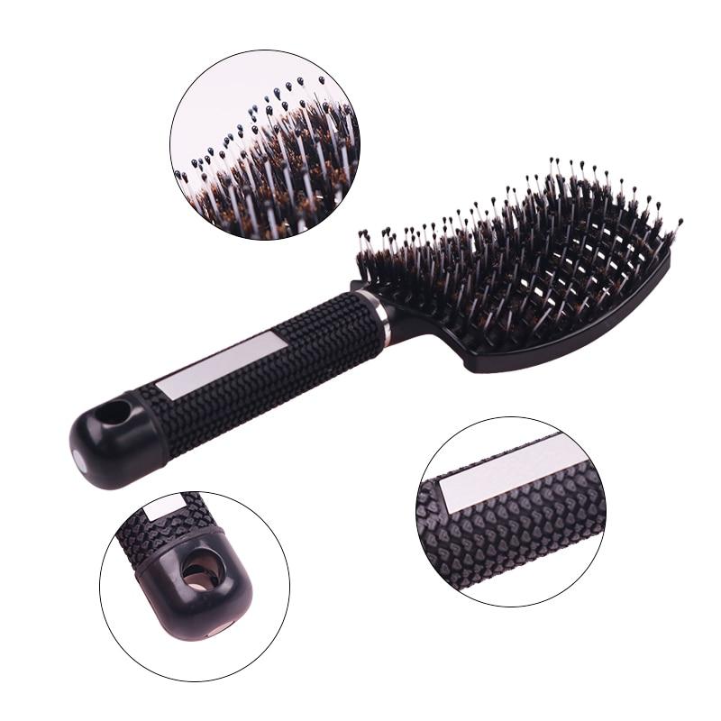 Women Comb Hair Scalp Massage Comb Bristle & Nylon Hair Brush Wet Curly Detangle Hair Brush For Salon Hairdressing Styling Tools