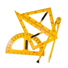 Ruler-Set Compasses-Protractor Measurement Teaching Multifunction Triangle New