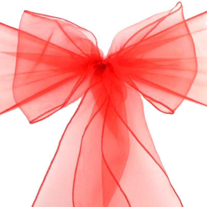 Best50piezas 18Cm x 275Cm banda para silla de organza arco para cubrir banquete boda fiesta evento Navidad decoración tejido puro de organza Moderno de algodón de mantel de lino impermeable cuadrado fiesta banquete mantel para exteriores de Color sólido mantel NAPE de superposición